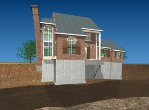 Sinking and settling foundation on a home